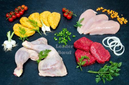 """Assortiment """"Pour enfant"""" 25 personnes. Cordon bleu, filet de poulet, cuisse de poulet, bifteck haché"""